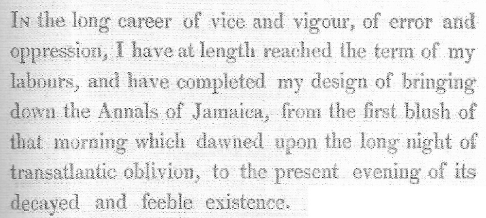 The Annals of Jamaica